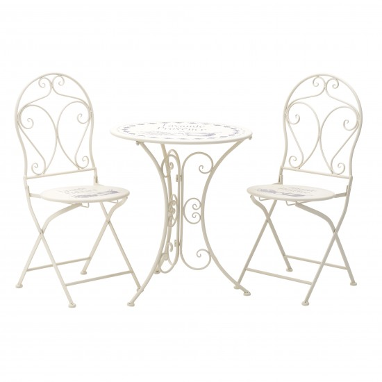 METAL TABLE / 2 CHAIRS