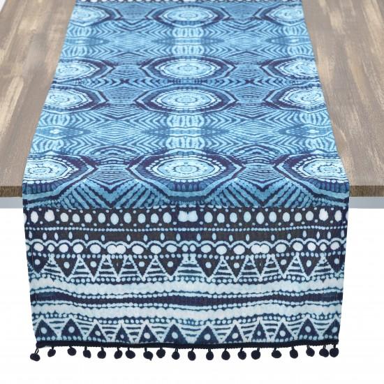 FABRIC TABLE RUNNER BLUE 40*140