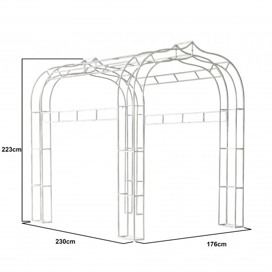 METAL ARCH WAY ANT.WHITE 176*230*223
