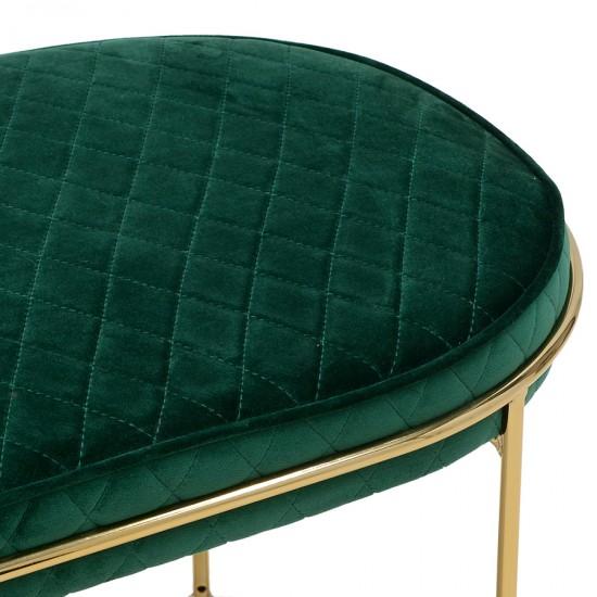 Velvet bench green